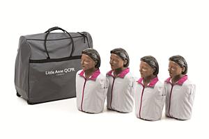 Laerdal Little Anne QCPR 4-pack, donkere huid